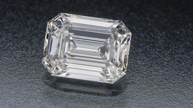 This emerald cut diamond is colorless and is a D color grade. – Courtesy Lazare Kaplan Diamonds