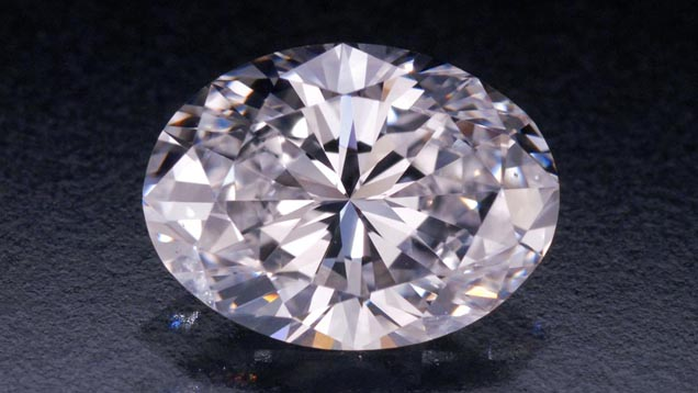 Diamond oval shape F, VS1- 1.010ct