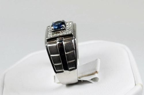 men's diamond sapphire band