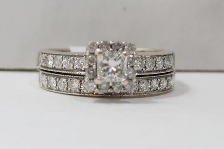 Princess Cut Diamond Wedding Set Sale