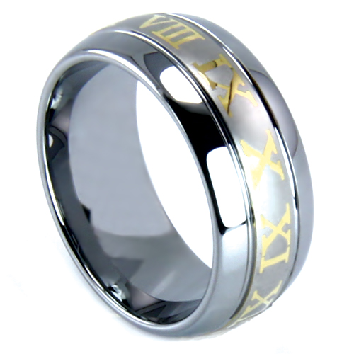 Tungsten wedding band the diamond consignment store for Wedding ring consignment
